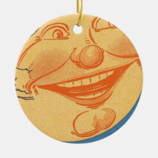 Full Moon Cartoon Ceramic Ornament