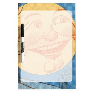 Full Moon Cartoon Dry-Erase Board