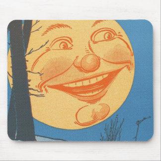 Full Moon Cartoon Mouse Pad