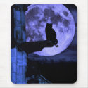 Full Moon Cat mousepad