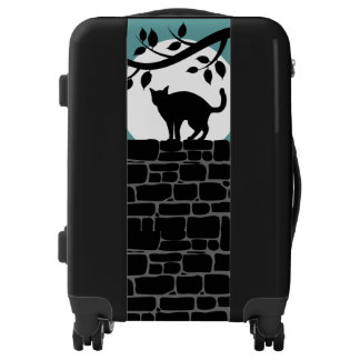 Full Moon Cat Whimsical Personalized Luggage