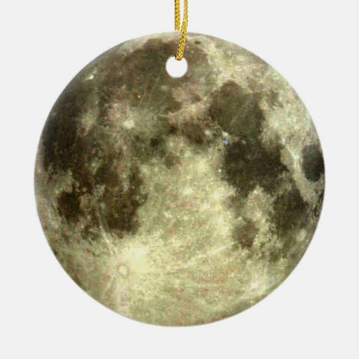 Full Moon Christmas Ceramic Ornament Zazzle Com