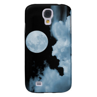 FULL MOON CLOUDS BLACK AND BLUE SAMSUNG GALAXY S4 CASE