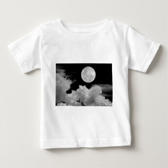 FULL MOON CLOUDS BLACK AND WHITE BABY T-Shirt