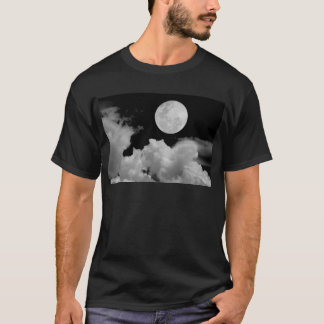 FULL MOON CLOUDS BLACK AND WHITE T-Shirt
