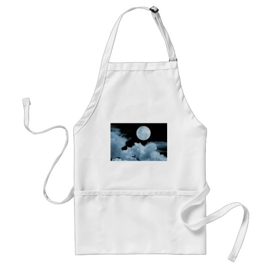 FULL MOON CLOUDS BLUE ADULT APRON