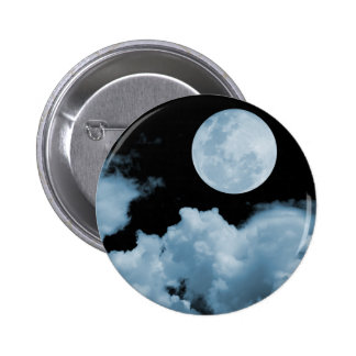 FULL MOON CLOUDS BLUE BUTTON