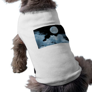 FULL MOON CLOUDS BLUE DOGGIE T SHIRT