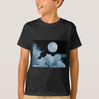 FULL MOON CLOUDS BLUE T-Shirt