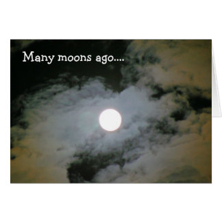 Full Moon Clouds Funny Birthday Card