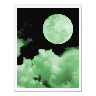 FULL MOON CLOUDS GREEN CARD