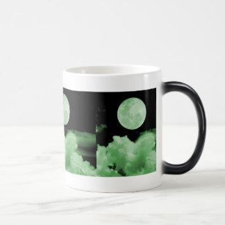 FULL MOON CLOUDS GREEN COFFEE MUG