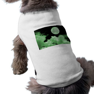 FULL MOON CLOUDS GREEN DOG SHIRT