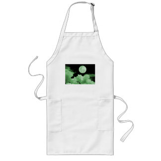 FULL MOON CLOUDS GREEN LONG APRON