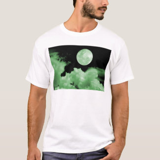 FULL MOON CLOUDS GREEN T-Shirt