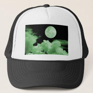 FULL MOON CLOUDS GREEN TRUCKER HAT