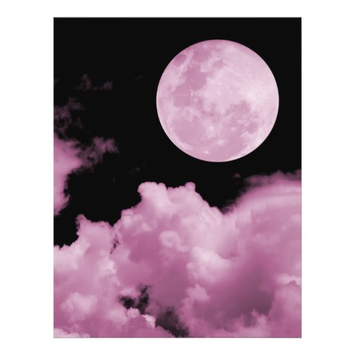"""FULL MOON CLOUDS PINK 8.5"""" X 11"""" FLYER"""
