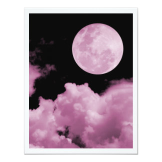 FULL MOON CLOUDS PINK CARD