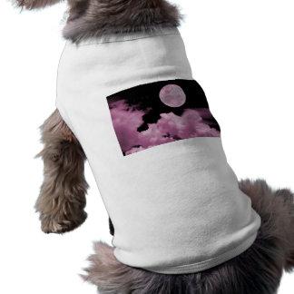 FULL MOON CLOUDS PINK DOG TSHIRT