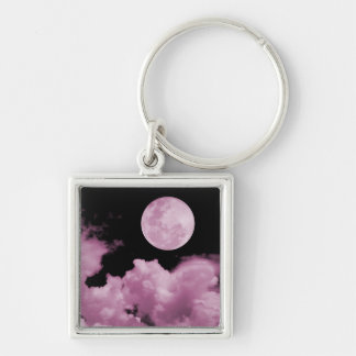 FULL MOON CLOUDS PINK KEYCHAIN