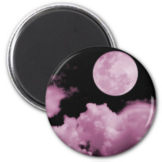 FULL MOON CLOUDS PINK MAGNET