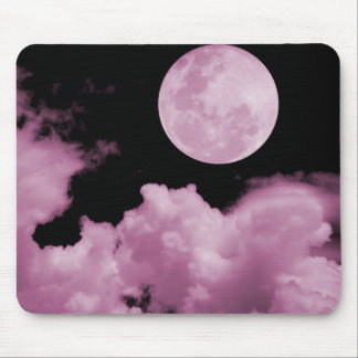 FULL MOON CLOUDS PINK MOUSE PAD