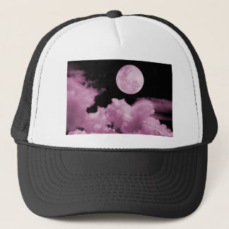 FULL MOON CLOUDS PINK TRUCKER HAT