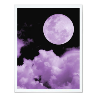 FULL MOON CLOUDS PURPLE CARD