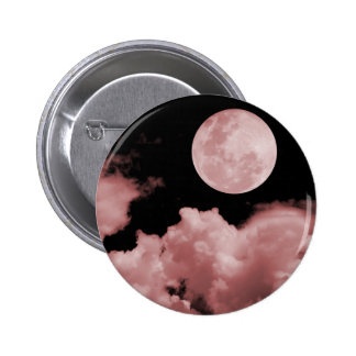 FULL MOON CLOUDS RED PINBACK BUTTON