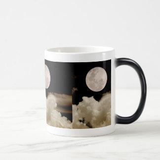 FULL MOON CLOUDS SEPIA 11 OZ MAGIC HEAT Color-Changing COFFEE MUG
