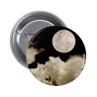 FULL MOON CLOUDS SEPIA BUTTON
