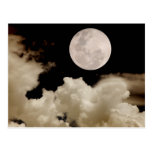FULL MOON CLOUDS SEPIA POST CARDS