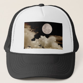 FULL MOON CLOUDS SEPIA TRUCKER HAT
