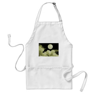FULL MOON CLOUDS YELLOW ADULT APRON
