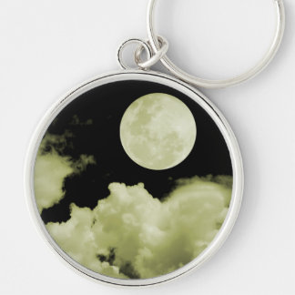 FULL MOON CLOUDS YELLOW KEYCHAIN