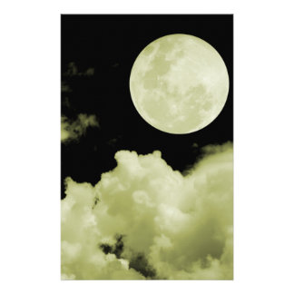 FULL MOON CLOUDS YELLOW STATIONERY