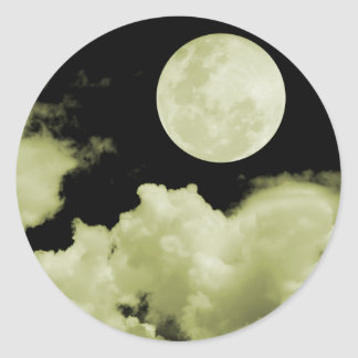 FULL MOON CLOUDS YELLOW STICKER
