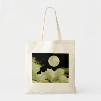 FULL MOON CLOUDS YELLOW TOTE BAG
