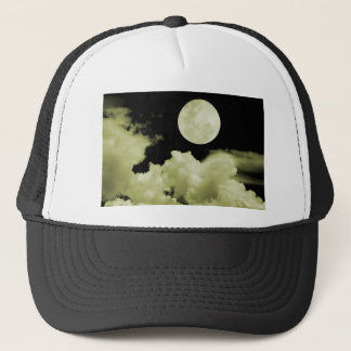 FULL MOON CLOUDS YELLOW TRUCKER HAT
