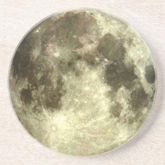 Full moon coaster. sandstone coaster