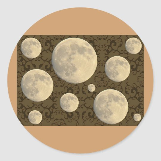 Full Moon Coordinating Items Classic Round Sticker