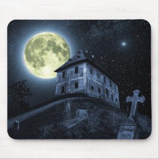 Full Moon Creepy Scene Mousepad