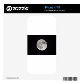 Full Moon Decal For iPhone 4S