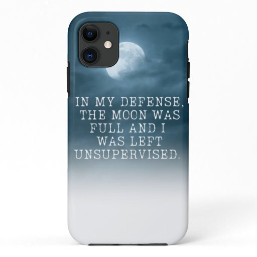 Full Moon Defence iPhone Case