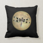 Full Moon Dragonfly Pillow