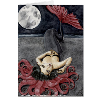 Full Moon, Empty Heart by Dawn Obrecht Card