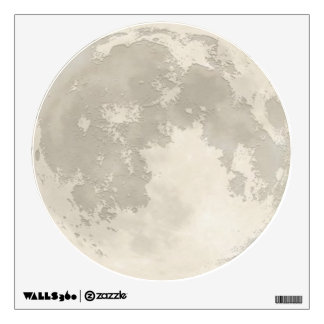 Full Moon Fabric Paper Wall Decal (Reusable)