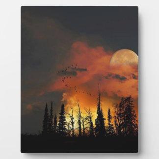 Full Moon Fire Plaque