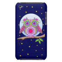 Full Moon Flower power Owl iPod touch case