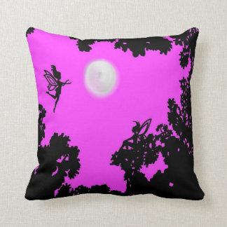 Full Moon Forest faerie Throw Pillow